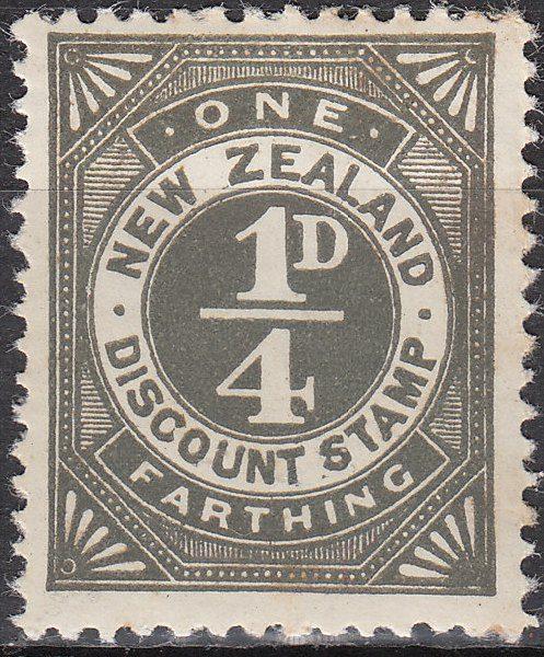Discount Stamp - 1/4d Grey