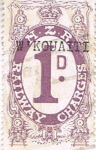 1d Violet Railways Charge