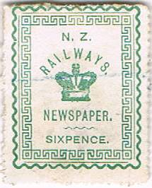 6d Green Railways Newspaper