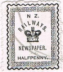 1/2d Black Railways Newspaper
