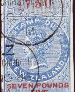 Die II Imperf 7 Pounds 5/- Blue & Red