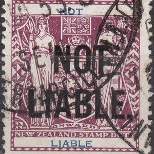 Not Liable - 1931 Arms Type No Value Deep Plum & BLue