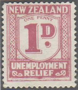 1931 - 33 Unemployment Relief 1d Pink
