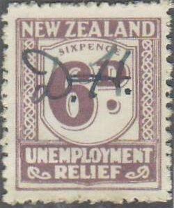 1931 - 33 Unemployment Relief 6d Mauve