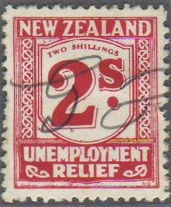 1931 - 33 Unemployment Relief 2/- Carmine