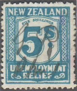 1931 - 33 Unemployment Relief 5/- Pale Blue