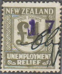 1931 - 33 Unemployment Relief 4 Pounds Olive-Grey