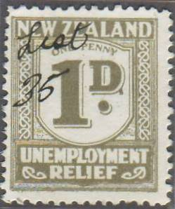 1934 -35 UR 1d Grey