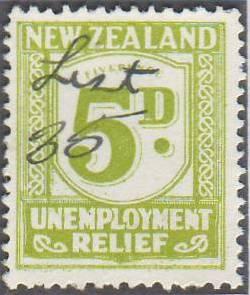 1934 - 35 UR 5d Green