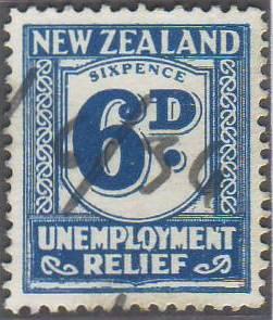 1934 - 35 UR 6d Blue
