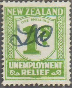 1934 - 35 UR 1/- Yellow-Green