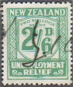1934 - 35 UR 2/6 Blue-Green