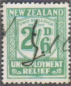 1934 - 35 UR 2/6 Blue-Green