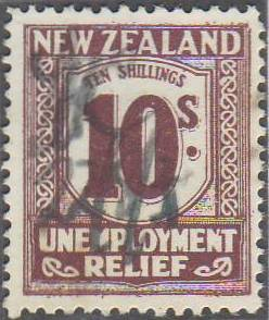1934 - 35 UR 10/- Purple-Brown