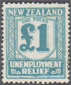 1934 - 35 UR 1 Pound Pale Blue