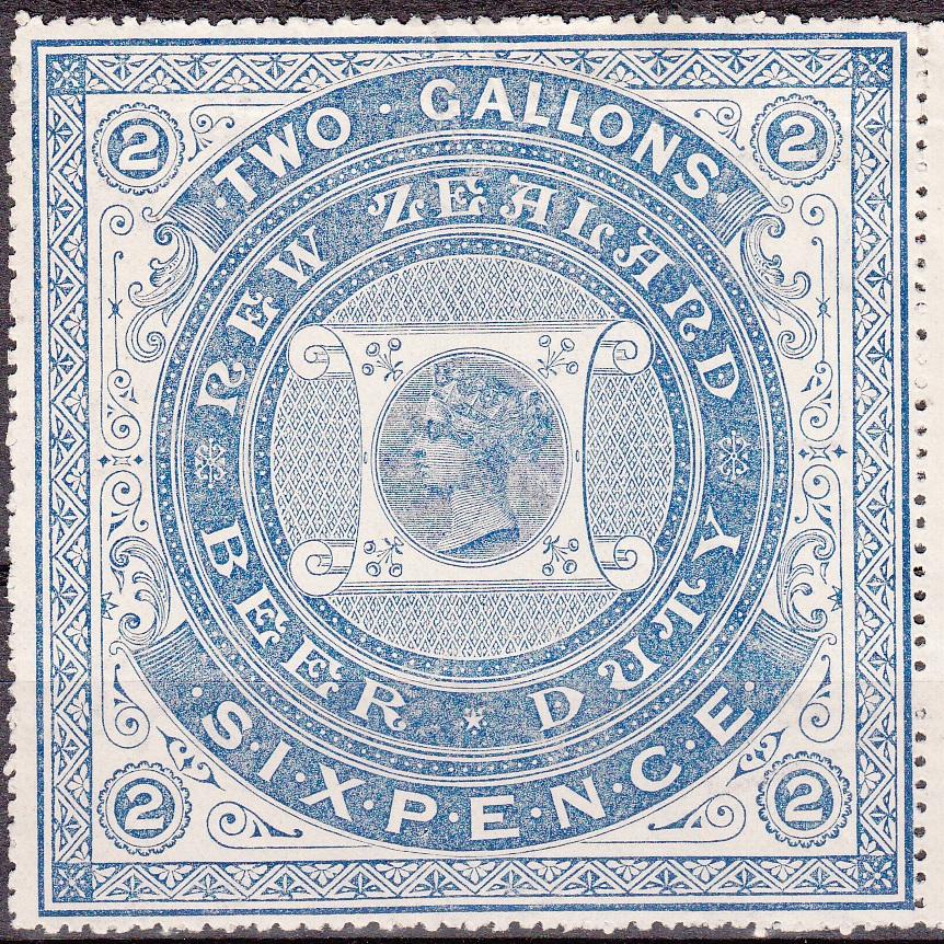 Beer Duty - 1883 6d Blue