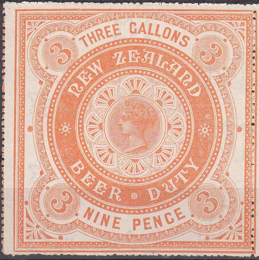 Beer Duty - 1883 9d Orange-Yellow