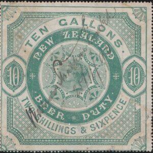 Beer Duty - 1883 2/6 Green