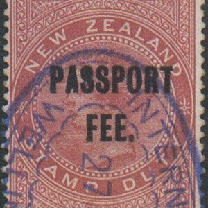 Passport Fee - 10/- Maroon (QV Longtype)