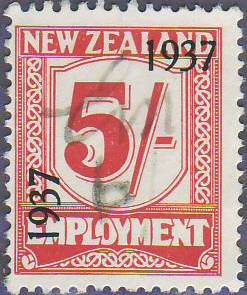 1937 Employment 5/- Carmine
