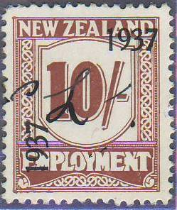 1937 Employment 10/- Red-Brown