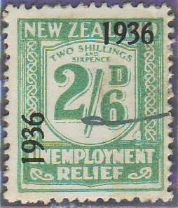 1936 UR o/p 2/6 Blue-Green