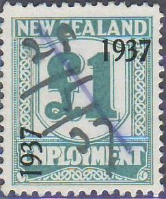 1937 Employment 1 Pound Pale Blue