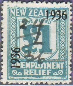1936 UR o/p 1 Pound Pale Blue