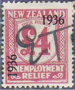 1936 UR o/p 4 Pounds Pink