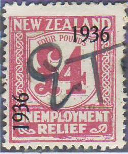 1936 UR o/p 4 Pounds Pink