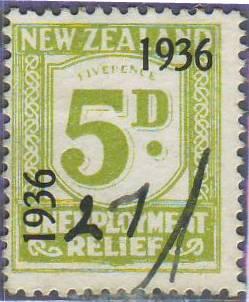 1936 UR o/p 5d Green
