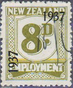 1937 Employment 8d Olive-Green