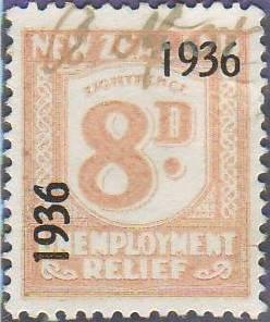1936 UR o/p 8d Salmon