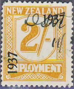 1937 Employment 2/- Yellow