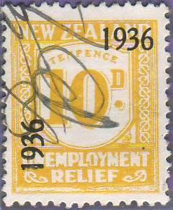 1936 UR o/p 10d Yellow