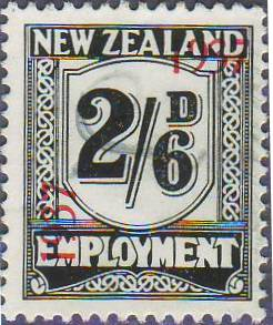 1937 Employment 2/6 Black