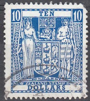 $10 Dark Blue Decimal Arms