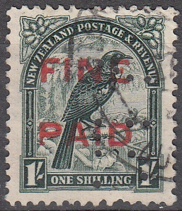 1935 Pictorials 1/- Green (Red Overprint)
