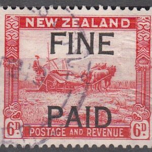 1935 Pictorials 6d Red (Black Overprint)