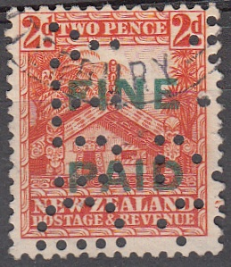 1935 Pictorials 2d Orange (Green Overprint)